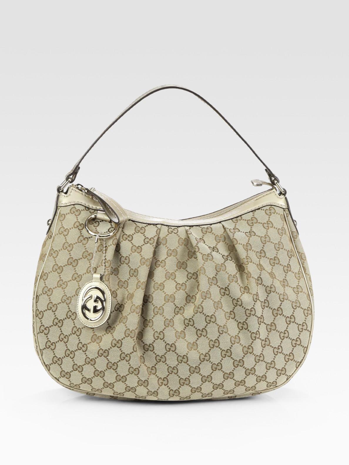 f624e4ba6a1 Lyst - Gucci Sukey Gg Medium Hobo Bag in Natural