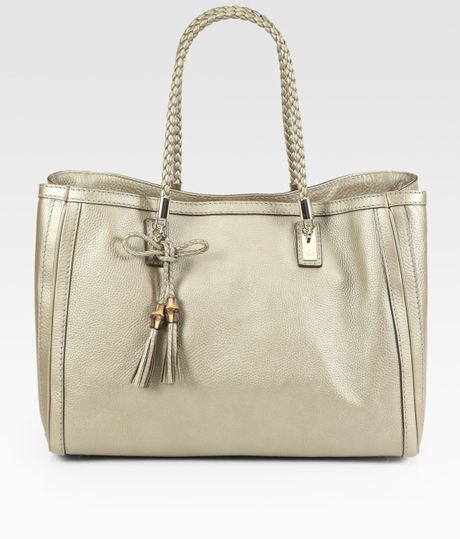 Gucci Bella Medium Tote Bag in Gold (champagne) - Lyst