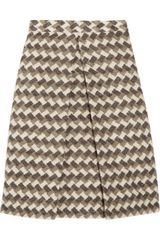 Marc Jacobs Patterned Wool-blend A-line Skirt - Lyst