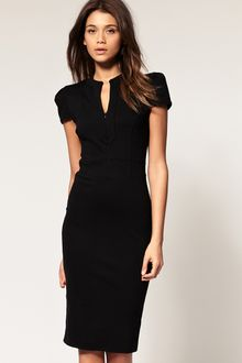 ASOS Collection Asos Ponti Pencil Dress with Zip Detail - Lyst