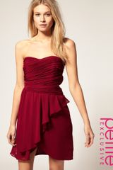 ASOS Collection Asos Petite Exclusive Pleat Detail Drape Bandeau Dress - Lyst