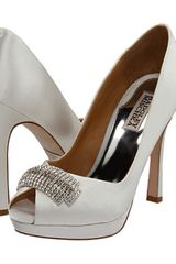 Badgley Mischka Julia  White Satin in White - Lyst