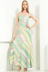 Missoni Paneled Knit Maxi Dress - Lyst