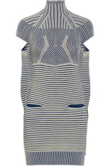 Peter Pilotto Turtleneck Woven Dress in Blue - Lyst