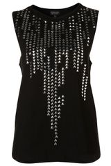 Topshop Studded Tank Top
