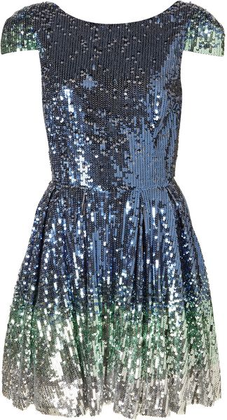 Topshop Ombre Sequin Prom Dress By Dress Up - Lyst