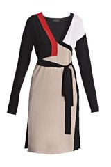 Vionnet Tri Colour-block Dress - Lyst