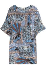 Acne Midra Printed Silk-chiffon Dress - Lyst