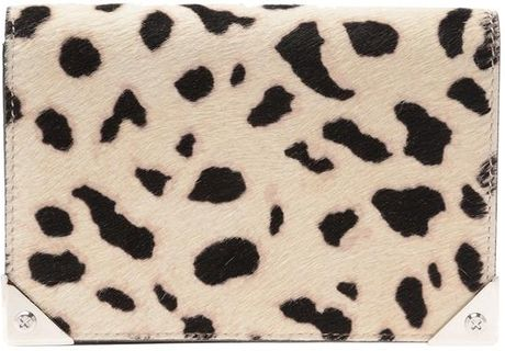 Alexander Wang Prisma Calfhair Biker Purse in Animal (black white) - Lyst