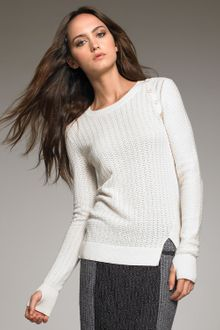 Proenza Schouler Button-shoulder Knit Sweater - Lyst