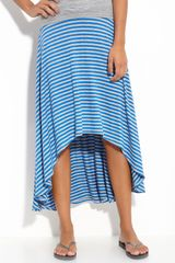Wallpapher Scoop Back Midi Maxi Skirt  in Blue (royal/ heather) - Lyst