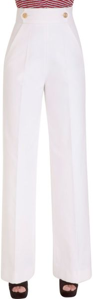 Yves Saint Laurent High Waisted Pant - Lyst