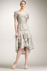 Zac Posen Floral-print Silk Dress - Lyst