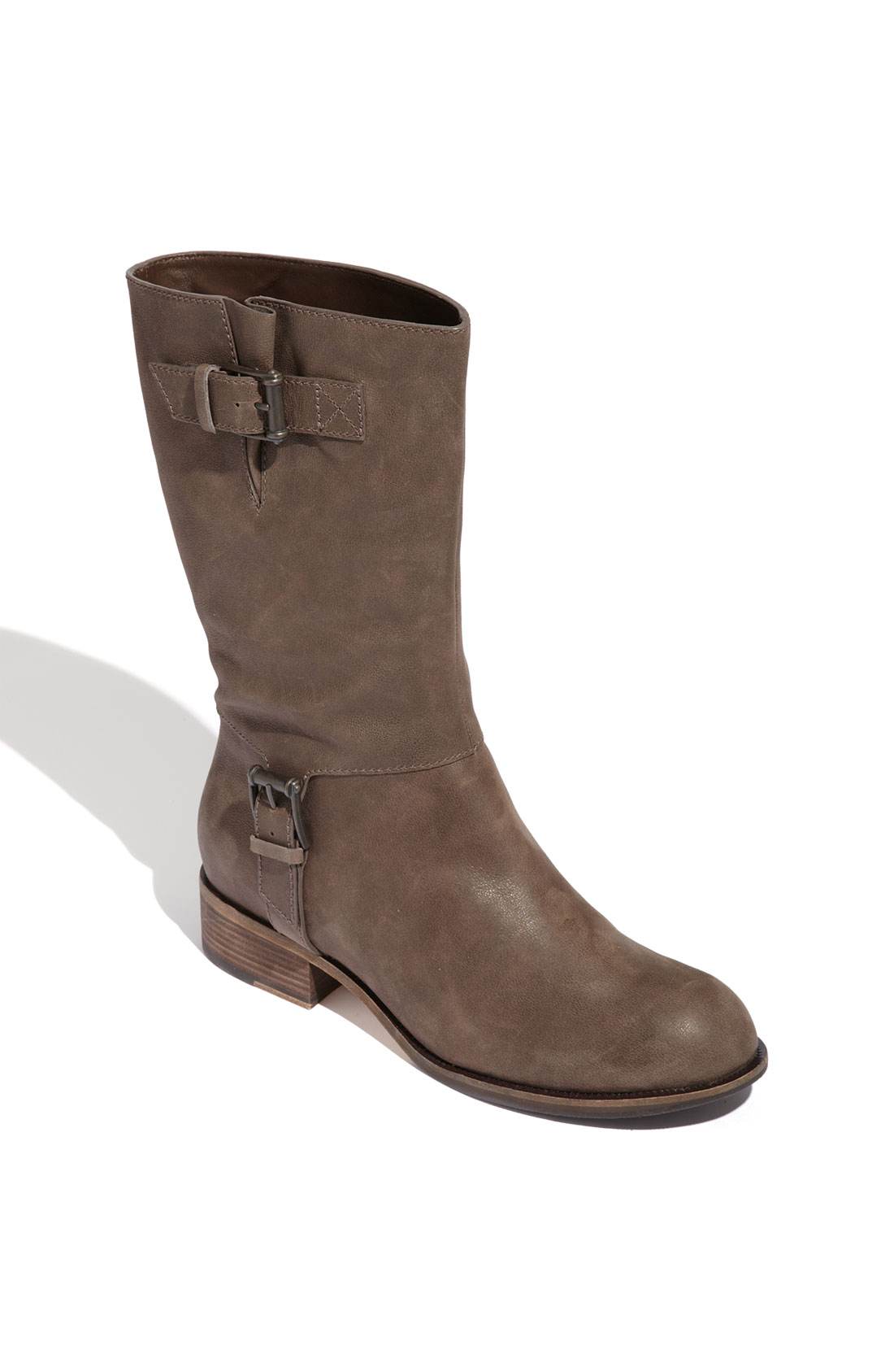 Cole Haan Air Leora Mid Calf Leather Boot In Brown Dark