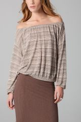 Ella Moss Lux Off The Shoulder Top - Lyst