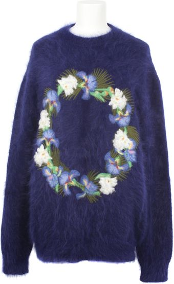 Givenchy Purple Angora Blend Pullover - Lyst