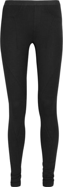 Helmut Lang Stretch Woolblend Leggings in Black - Lyst