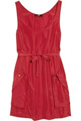 Markus Lupfer Washed-silk Dress - Lyst
