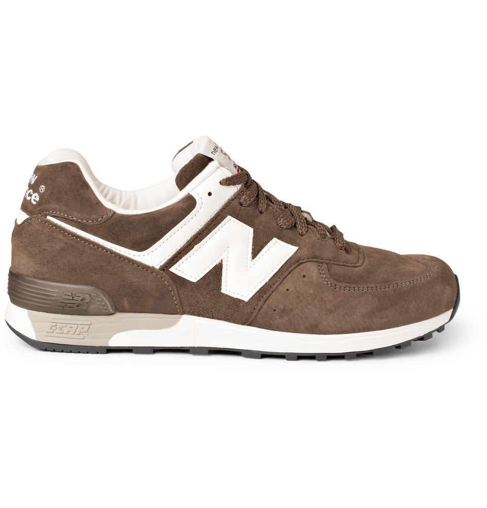 new balance 576 suede running sneakers in brown for men lyst. Black Bedroom Furniture Sets. Home Design Ideas