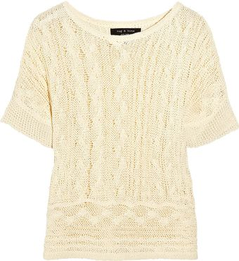 Rag & Bone Magee Open-knit Linen-blend Sweater - Lyst