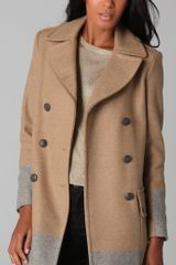 Rag & Bone Admiral Coat in Gray (camel) - Lyst