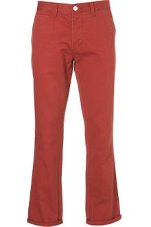 Topman Washed Red Slim Chinos - Lyst