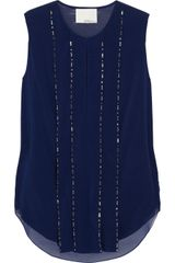 3.1 Phillip Lim Embellished Silk-blend Chiffon Top - Lyst