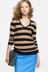 J.Crew Dream V-neck Sweater in Stripe - Lyst