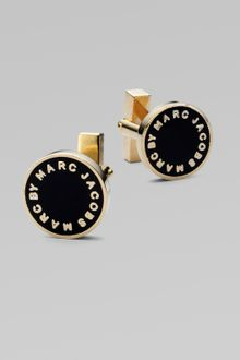 Marc By Marc Jacobs Enamel Logo Bolt Cuff Links - Lyst