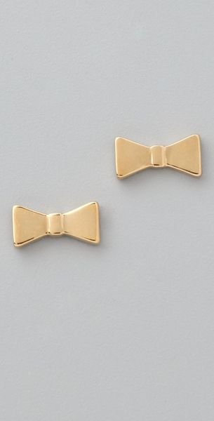 Marc By Marc Jacobs Mini Charm Bow Studs - Lyst