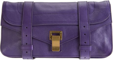 Proenza Schouler Ps1 Pochette Leather in Purple (violet) - Lyst