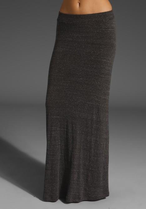 Charcoal Grey Maxi Skirt - Skirts
