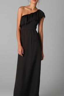 Rebecca Taylor Eyelash One Shoulder Gown - Lyst