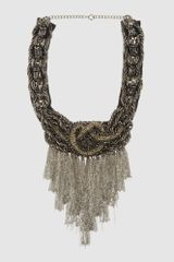 Alberta Ferretti Necklaces in Gray (lead) - Lyst