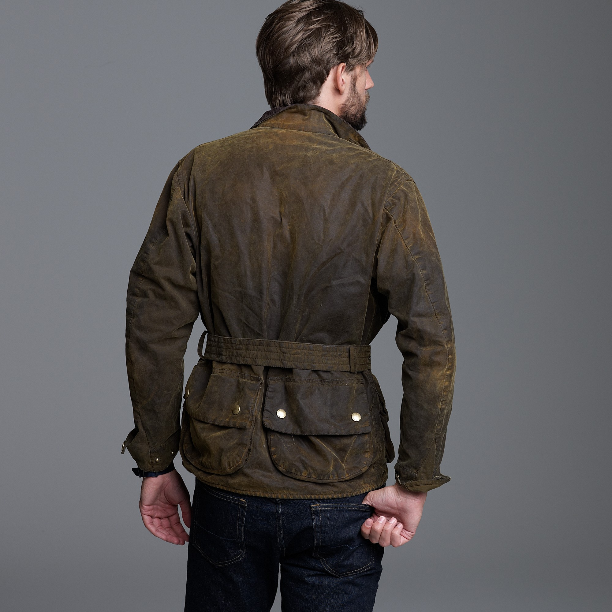 Lyst J Crew Barbour 174 75th Anniversary Distressed