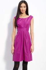 Kate Spade Deanna Pleated Silk Dress - Lyst