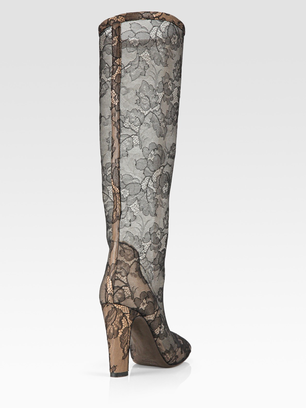 Valentino Lace Knee-High Boots discount low shipping real recommend buy cheap great deals lnHgFvE