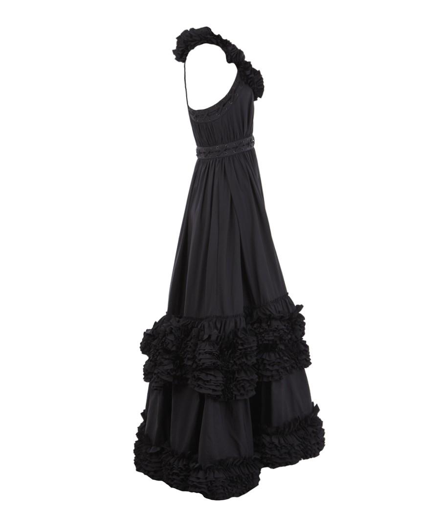 Lyst - AllSaints Allegra Maxi Dress in Black 4642b2be5