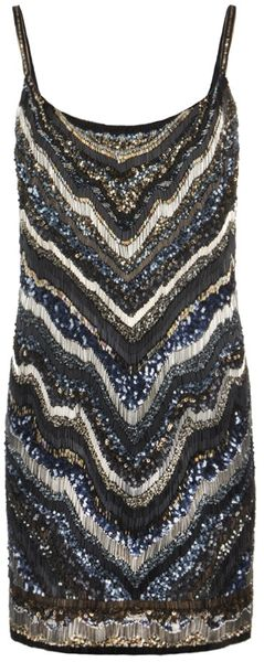 Allsaints Erodes Dress in Blue (gold petrol)