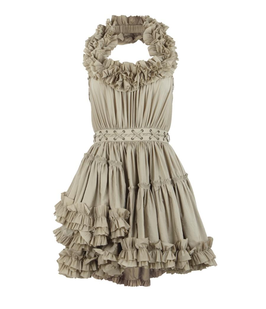 57817ec599 AllSaints Allegra Dress in Gray - Lyst