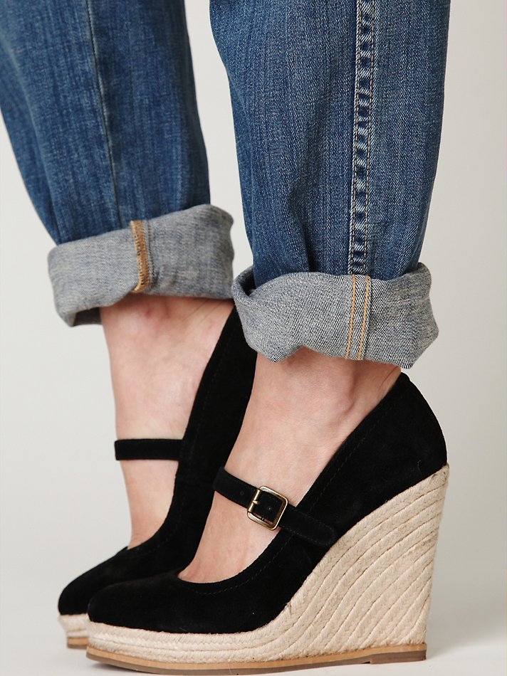 Lyst Free People Mary Jane Espadrille In Black