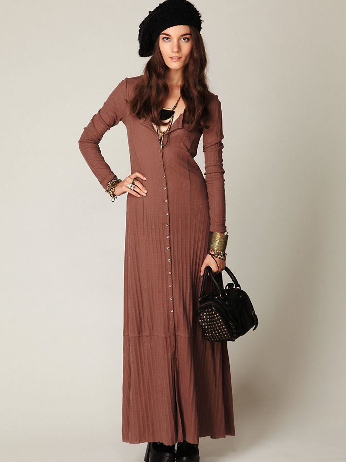 Free people Moon Duster Maxi in Brown | Lyst