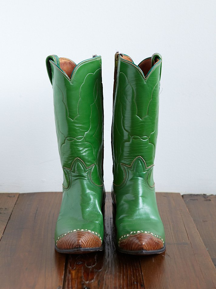 Free people Vintage Cowboy Boots in Green | Lyst