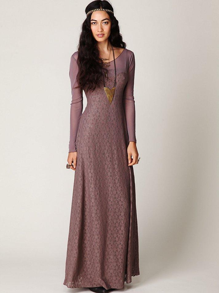 Nwot 128 Free People Intimately Purple Lavendar Lace