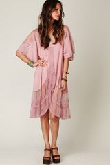 Free People Fp New Romantics All The Best Embroidered Dress - Lyst