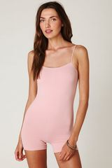 Free People Seamless Romper in Pink (vintage rose) - Lyst