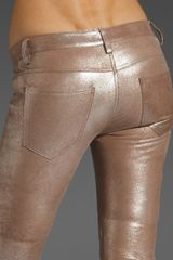 Graham & Spencer Leather Pants in Gold (metallic) - Lyst