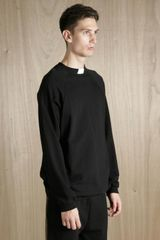 New Power Studio Mens Priest Sweater in Black for Men - Lyst