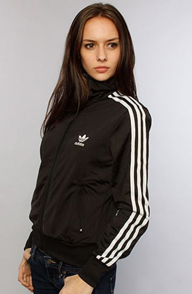 adidas the firebird track top in black and white in black. Black Bedroom Furniture Sets. Home Design Ideas