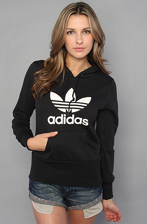 new concept 09f4c f2f36 Lyst - adidas The Trefoil Hoody in Black   White in Black
